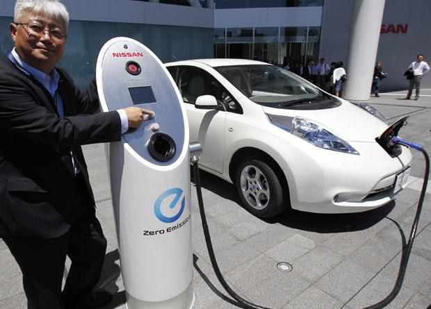 Sistema de recarga de veículos elétricos da Nissan