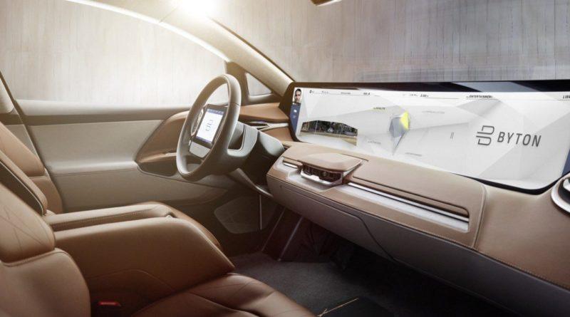 Interior do carro elétrico Byton