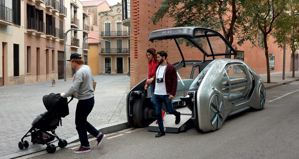 Conceito de carro elétrico autônomo Renault EZ-GO