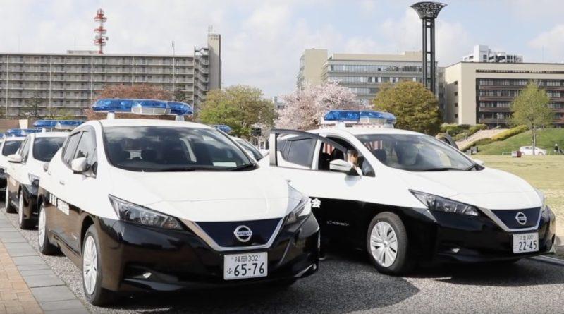 Nissan Leaf Police Japan