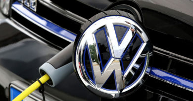 vw logo electric car