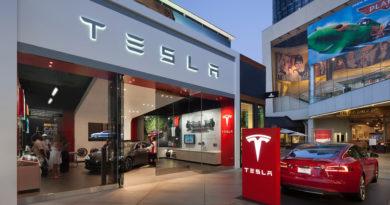 Loja de carros elétricos da Tesla