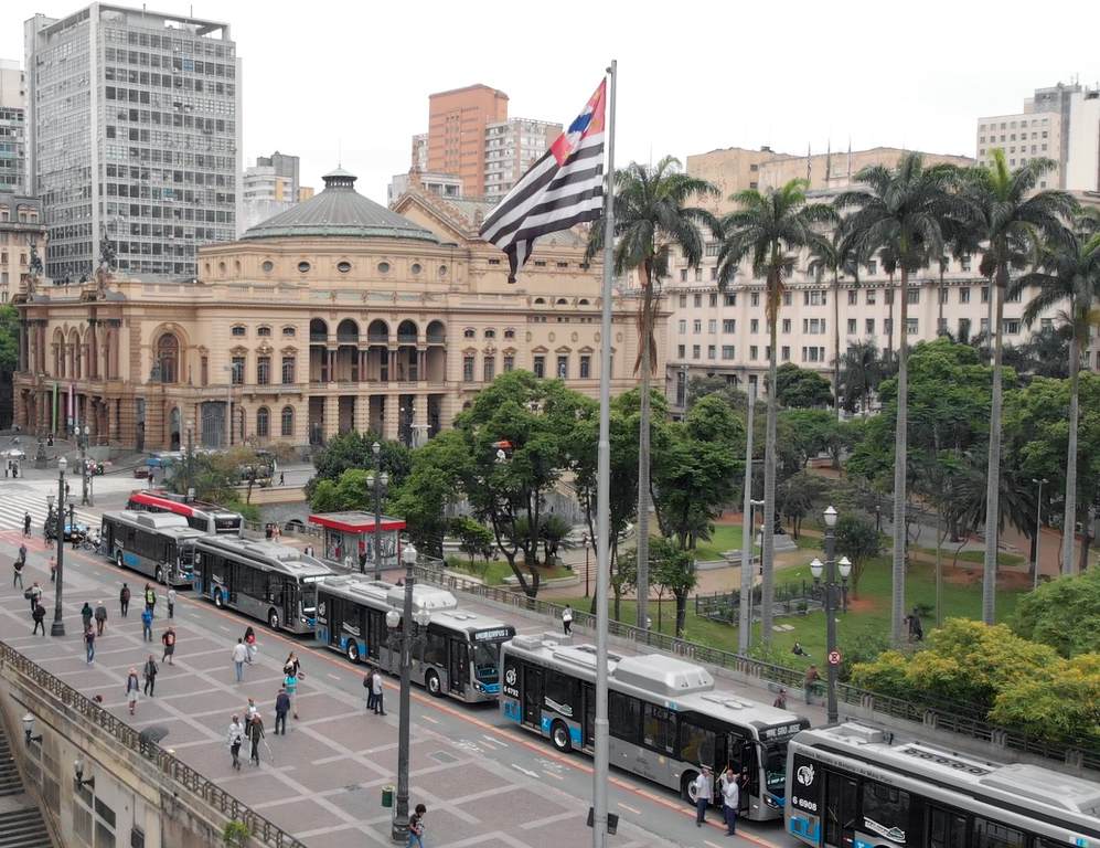 15 ônibus elétricos são entregues em novembro, em São Paulo [foto: Eduardo Medrano]