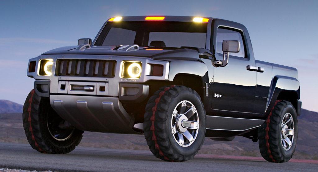 Conceito de pickup elétrica Hummer H3T