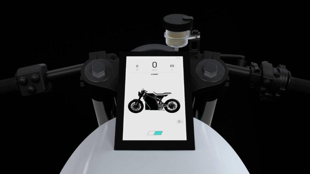"""Tela de 7"""" da moto elétrica da Yatri Motorcycles"""