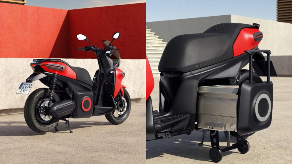 Baterias removíveis da Seat e-Scooter
