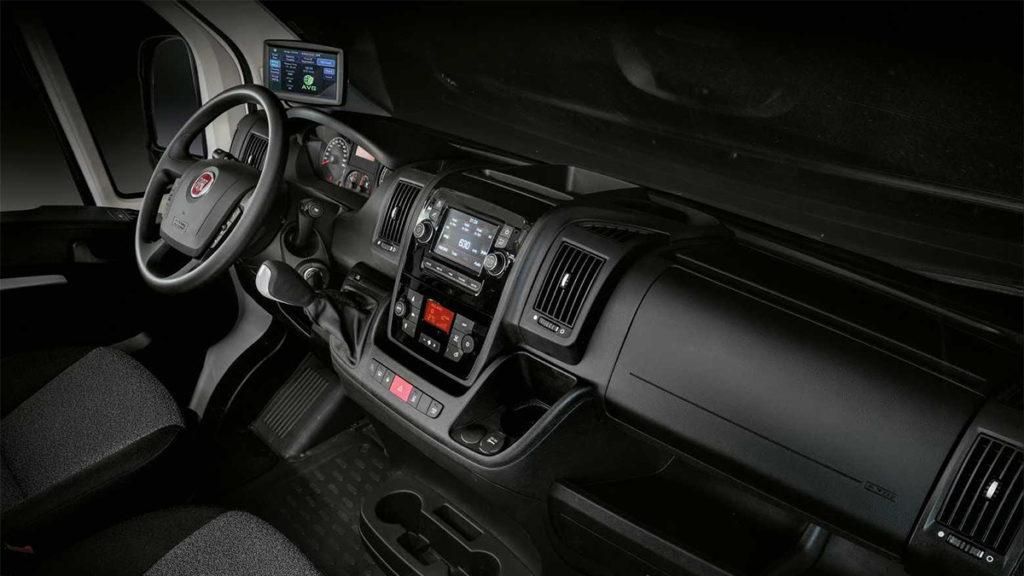 Interior do Fiat E-Ducato