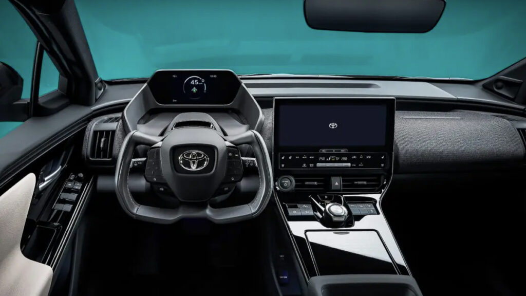 Interior do Toyota bZ4X Concept