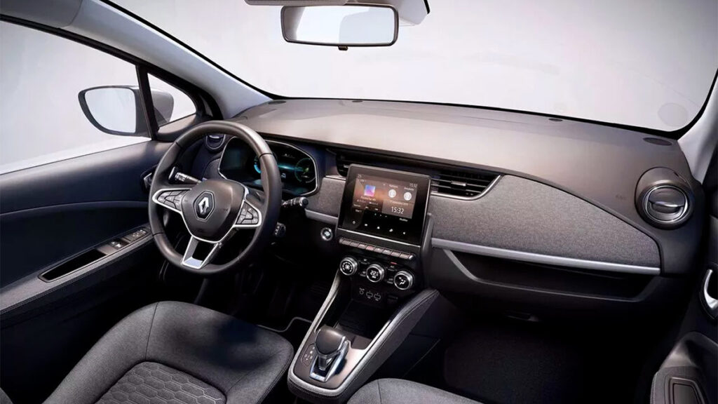 Interior do novo Renault Zoe 2022