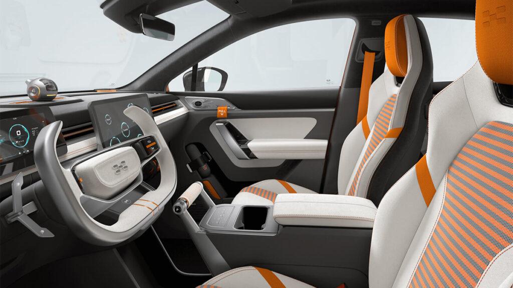 Interior do carro elétrico Aiways U6