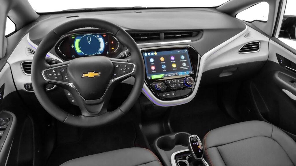 Interior do Chevrolet Bolt EV