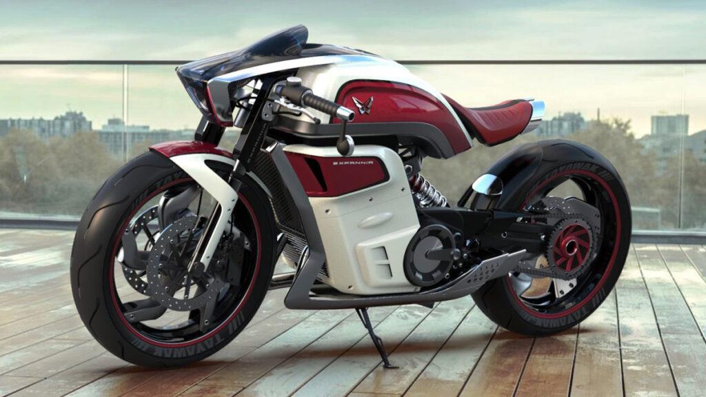 Conceito de moto elétrica da Expannia Motors